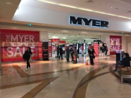 Shoppers outside Myer's store at Chadstone in Melbourne