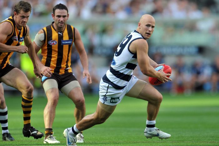Gary Ablett playing for Geelong