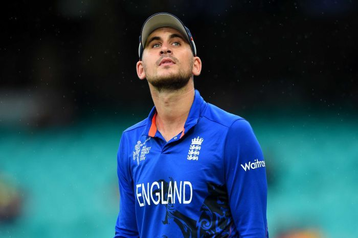 England's Alex Hales looks on during an ODI