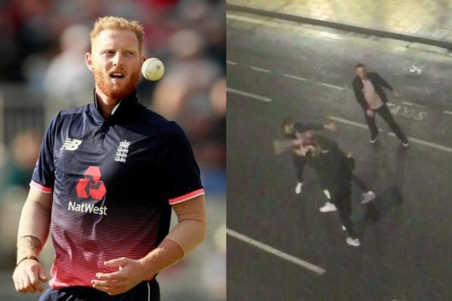 Composite of Ben Stokes and CCTV footage