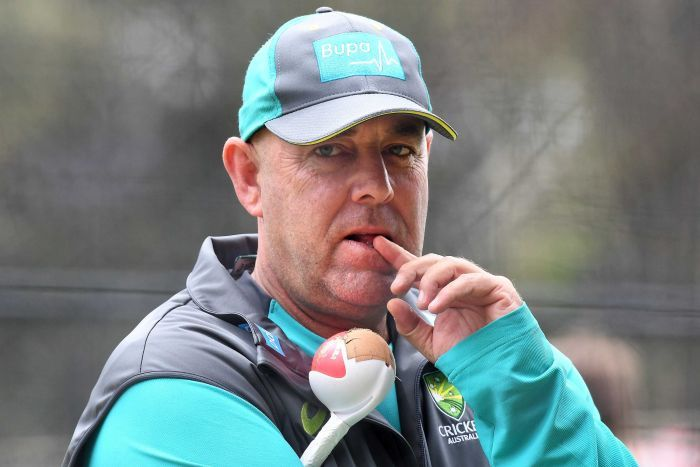 Darren Lehmann at an Australia training session at Adelaide Oval before the start of the second Ashes Test.