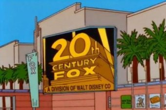 A still from The Simpsons with the 20th Century Fox logo