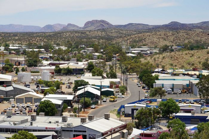 The town of Alice Springs as viewed from Anzac Hill looking north.