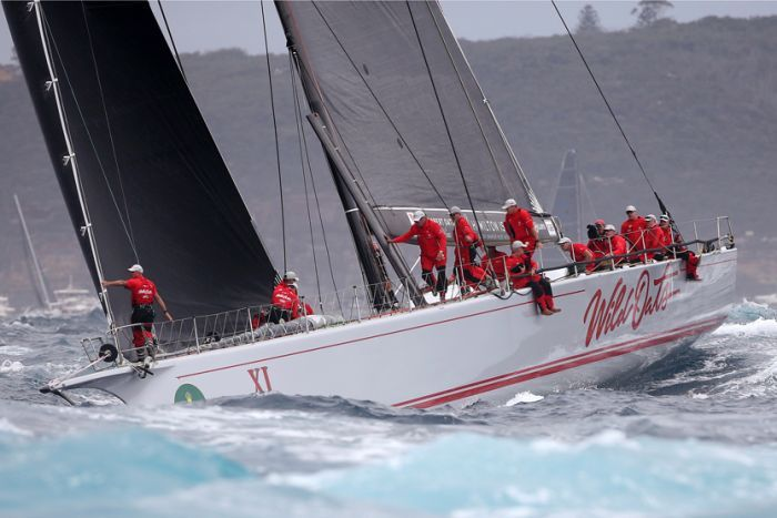 Wild Oats XI at the start of the race on Boxing Day