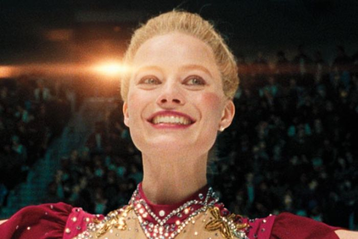 Margot Robbie smiles in a still image from the film I, Tonya