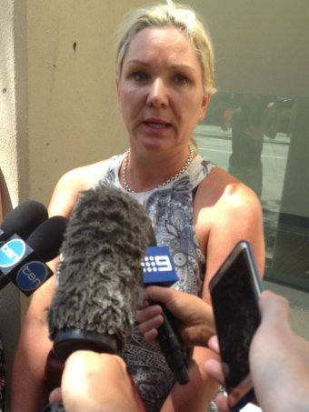 The victim's mother Jennifer Davis speaks to media outside Perth Magistrates Court.