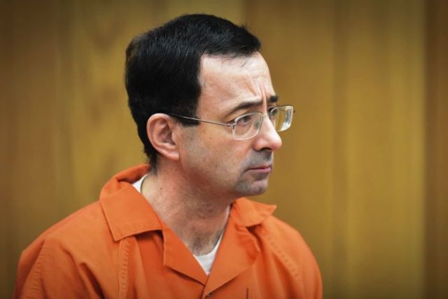 Former USA Gymnastics team doctor LarryNassar is sentenced for sexual assault on February 5, 2018.