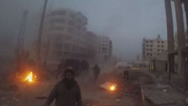 Airstrike at eastern Ghouta caught on camera in February