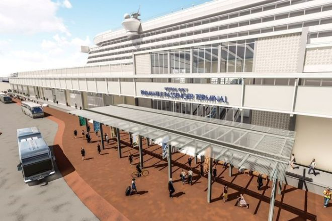 An artist's impression of the Fremantle terminal upgrade