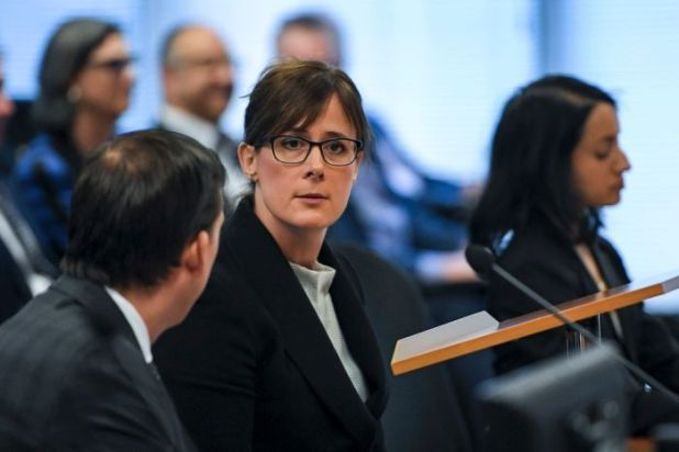 A close-up of Rowena Orr at the banking royal commission.