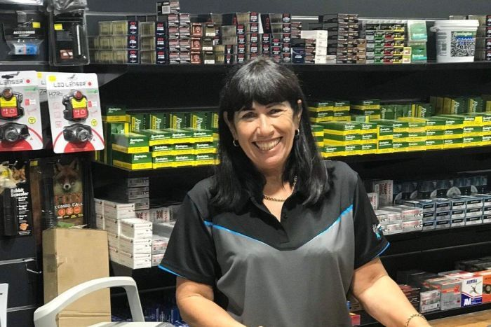 Rae Fletcher at her camping store in Emerald, Queensland.
