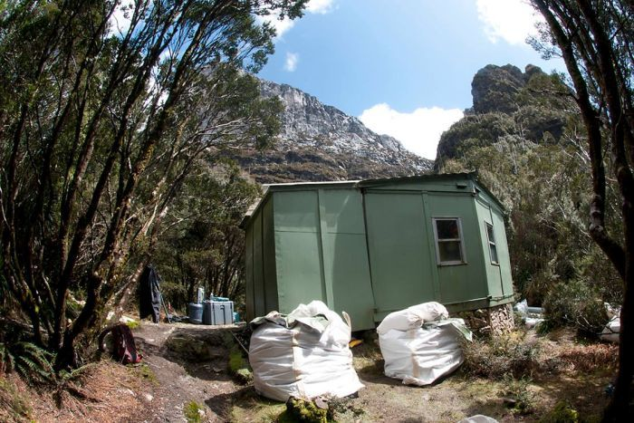 The 45-year-old Lake Tahune Hut has been replaced with a new, energy efficient structure, as of April 2018.