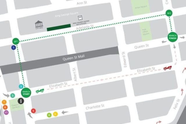 Anzac Day parade map
