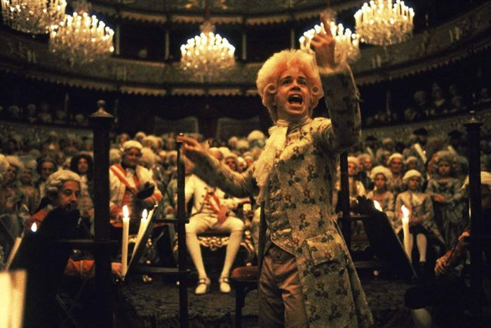 Actor Tom Hulce in the 1984 film Amadeus.