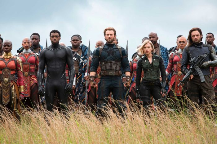 Promotion shot from Avengers: Infinity War