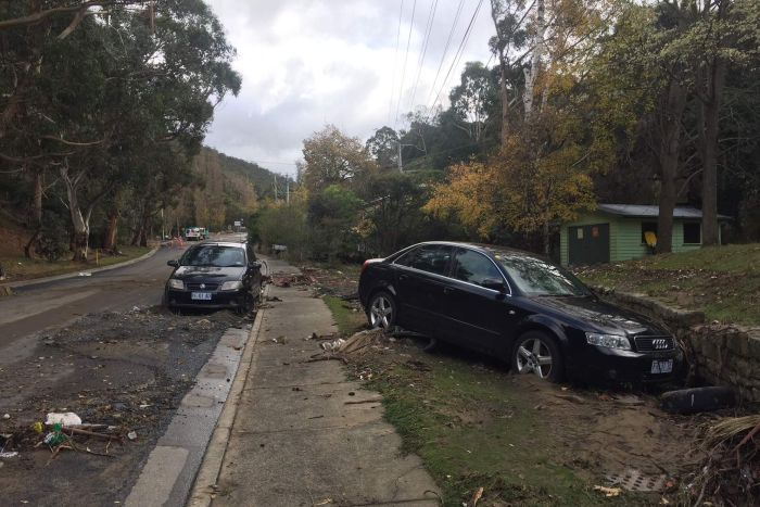 South Hobart clean up after May floods