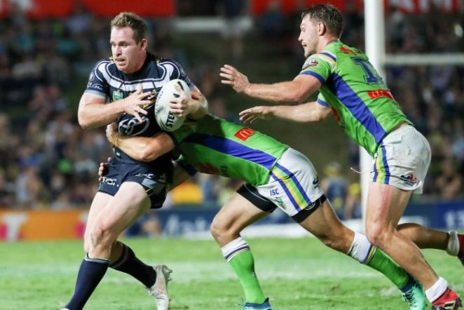 Michael Morgan of the Cowboys during the Round 8 NRL match against Canberra in Townsville.