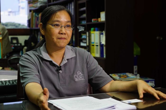 Siriporn Yodkamolsat, a gambling studies researcher in Thailand during an interview with Liam Cochrane.