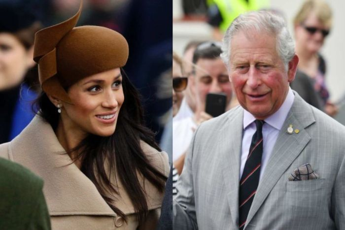 A composite image of Meghan Markle and Prince Chales.