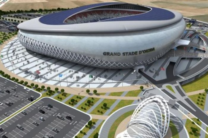 An artist's impression of the Oujda Stadium in Morocco