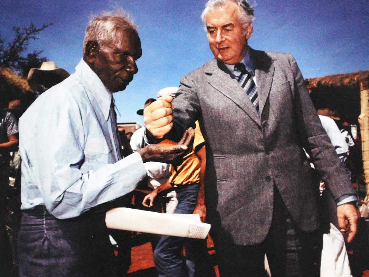 Whitlam hands traditional land over