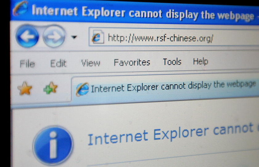 Website having been shut-down as a result of Chinas web-watch.