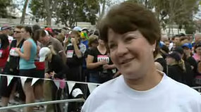 Trish Carey was inspired to undertake the 1,200 kilometre journey after her daughter Lisa died from Marfan syndrome.