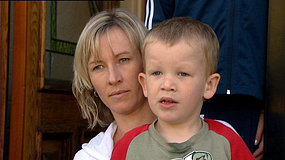 Four-year old Justin Gant, who has been diagnosed with autism