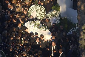 The protests were timed to coincide with the funeral of 15-year-old Alexandros Grigoropoulos.