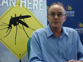Dr Jeffrey Hanna says about half of those diagnosed with the dengue fever outbreak have been hospitalised.