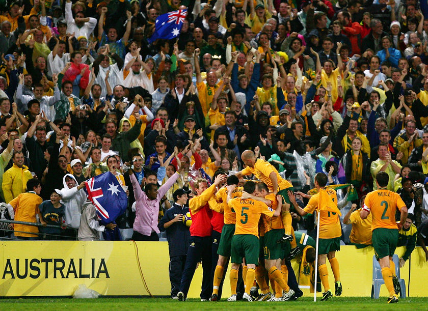 After taking the last spot for the World Cup in Germany, the Socceroos should be one of the first through to 2010. (Getty Images: Matt King)