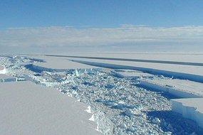 The Wilkins Ice Shelf in Antarctica