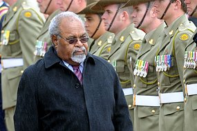 Papua New Guinea Prime Minister, Sir Michael Somare