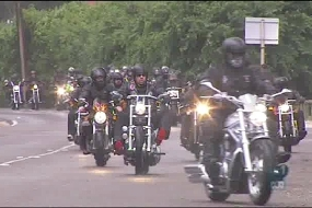 Motorcycle groups ride in protest