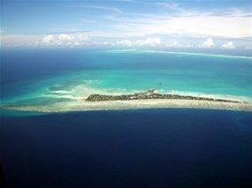 Aerial shot of Kiribati