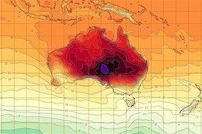BoM heatwave map