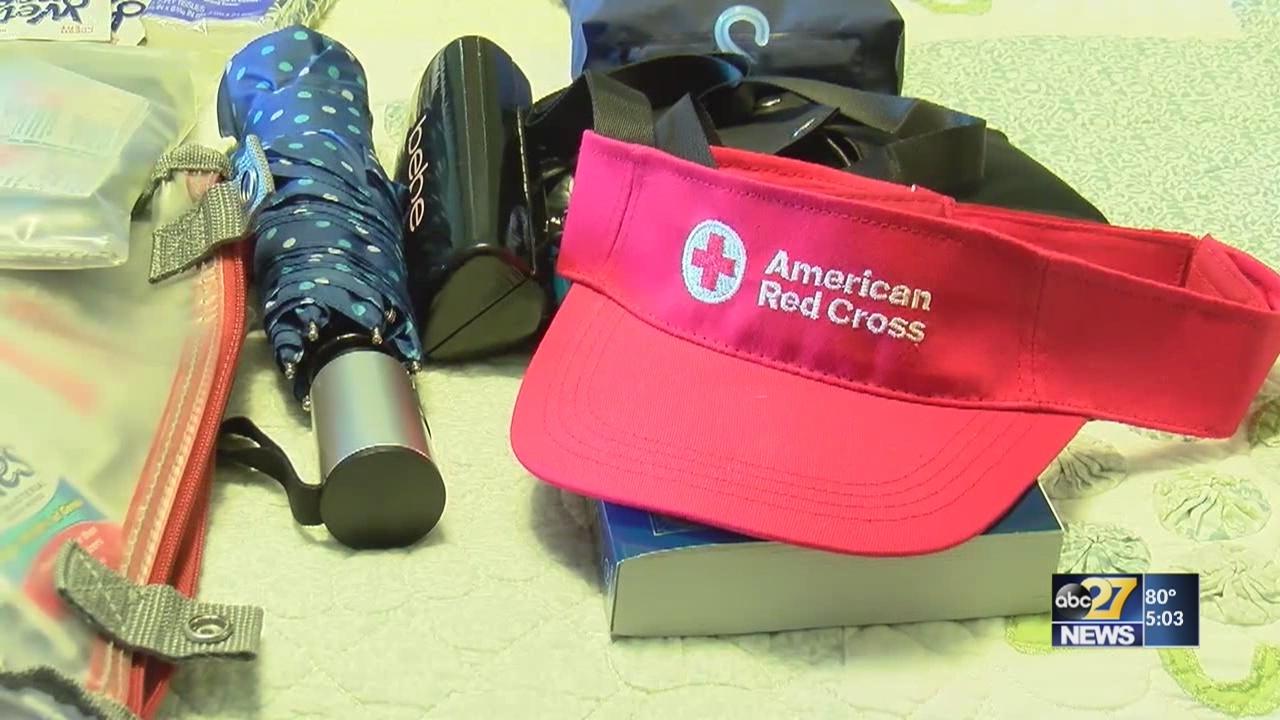 Local Red Cross volunteers responding to Hurricane Michael