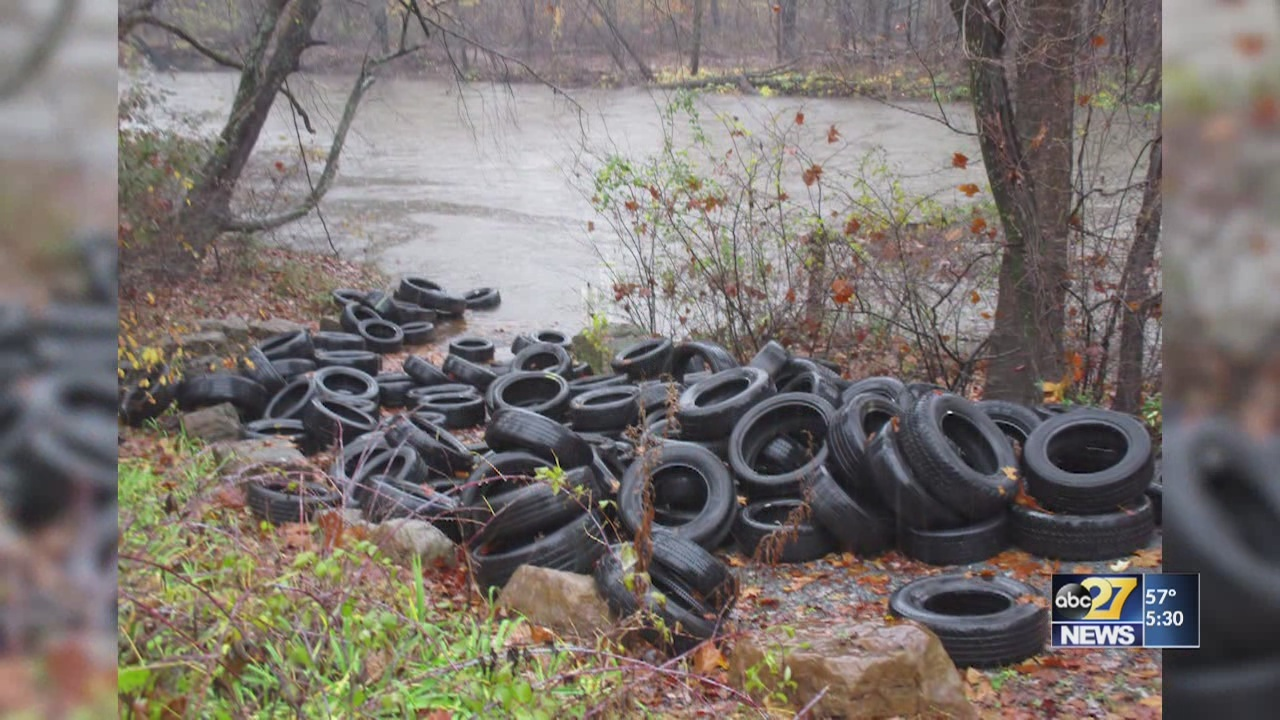 Over 150 tires illegally dumped at Swatara State Park