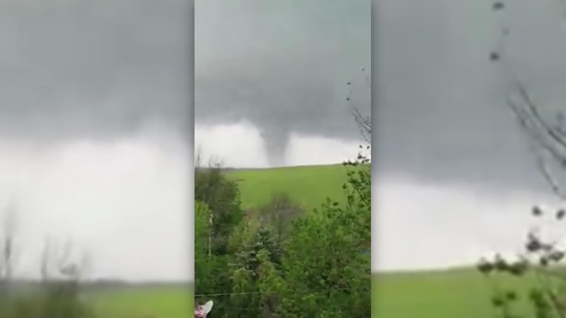 Possible tornado caught on camera in northeastern Pennsylvania