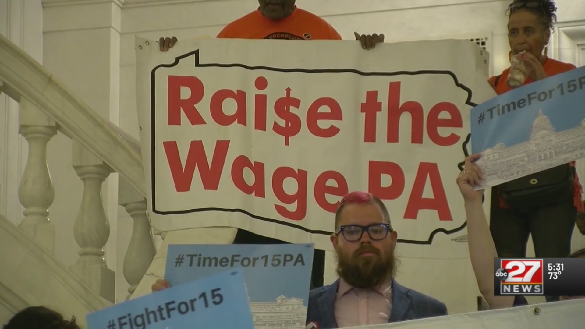 Capitol rally calls for hike in Pennsylvania's minimum wage