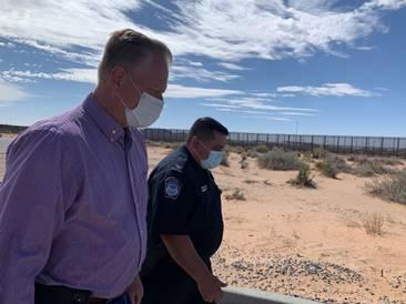 Fred Keller visits southern border