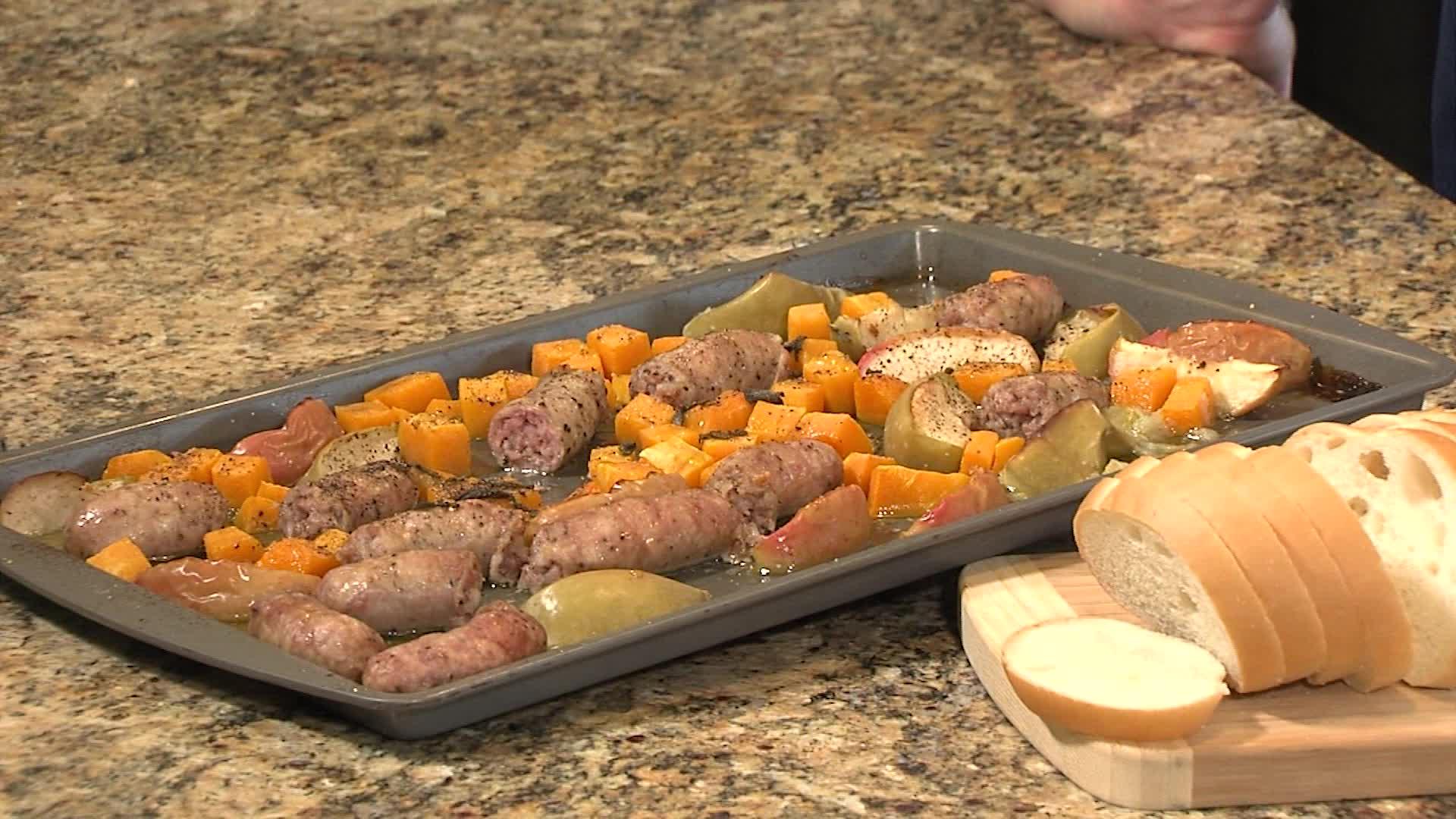 Autumn Sausage Sheet Pan Dinner