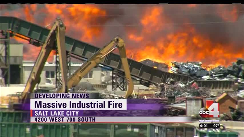 100 Firefighters Battle Large Fire in Salt Lake City_78456849-159532