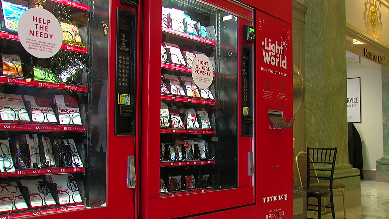 light of the world charity vending machines