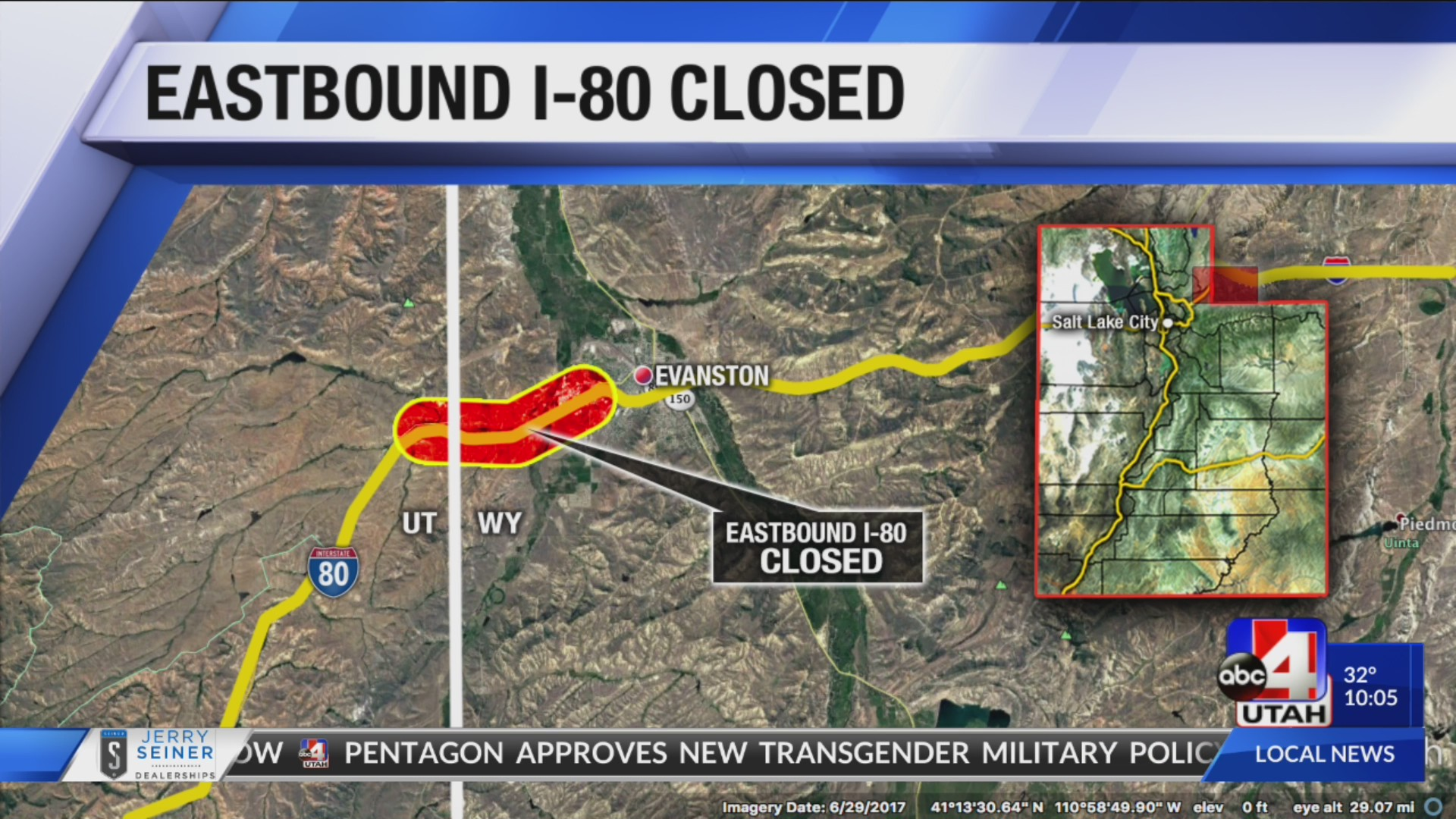 Traffic Alert: EB I-80 closed due to winter conditions