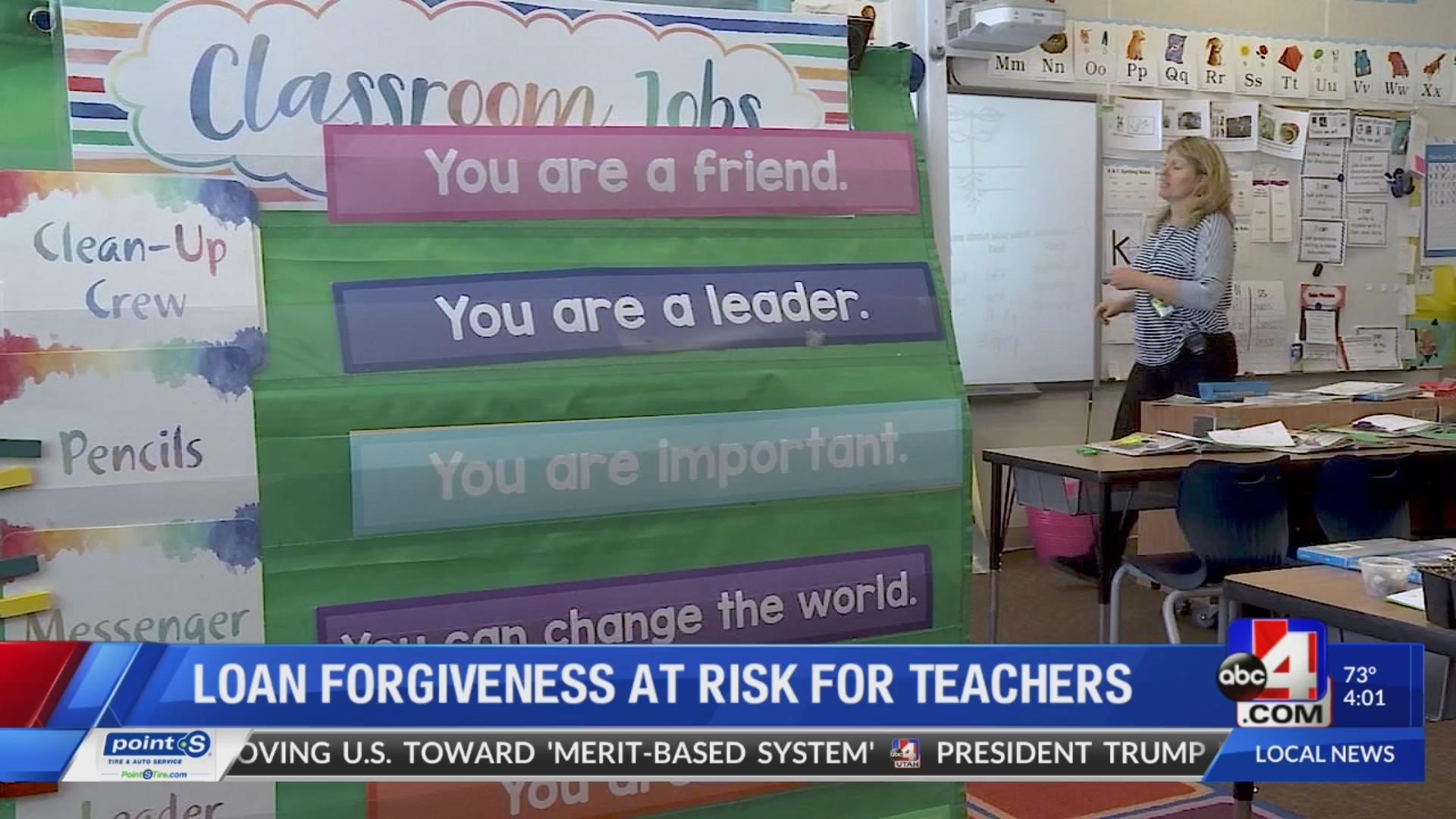 Teacher loan forgiveness program at risk
