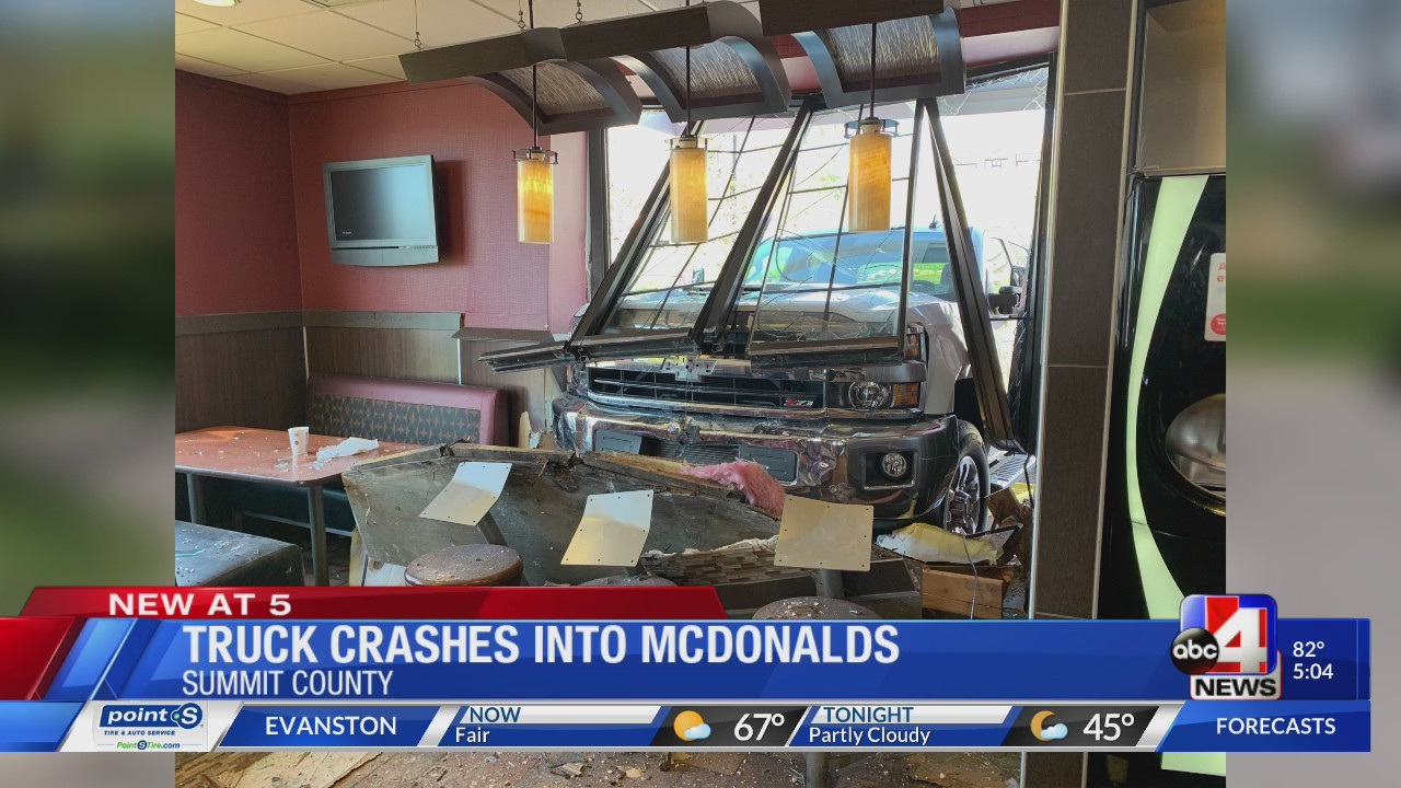 Truck crashes into Summit County McDonald's