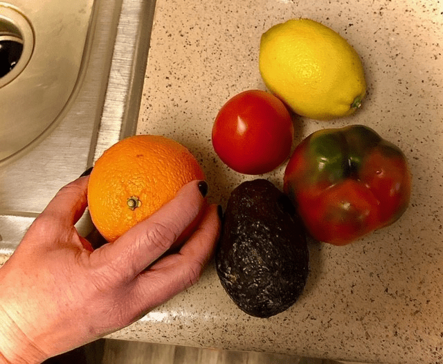 Cleaning produce and making sure it's safe to eat