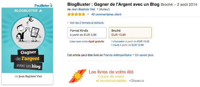Blogbuster sur Amazon