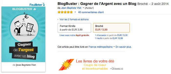 Blogbuster sur Amazon
